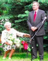 Marszałek Bronisław Komorowski z Mamą